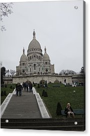 Paris France - Basilica Of The Sacred Heart - Sacre Coeur - 12128 Acrylic Print by DC Photographer