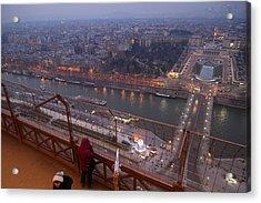 Paris France - Eiffel Tower - 011317 Acrylic Print by DC Photographer
