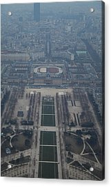 Paris France - Eiffel Tower - 01136 Acrylic Print by DC Photographer