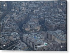 Paris France - Eiffel Tower - 01139 Acrylic Print by DC Photographer
