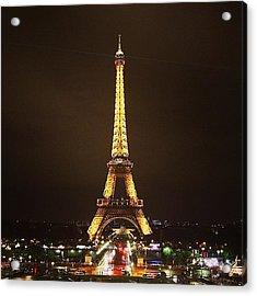 #paris #france #night #lights Acrylic Print by Luisa Azzolini