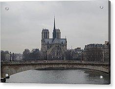 Paris France - Notre Dame De Paris - 011313 Acrylic Print