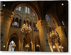 Paris France - Notre Dame De Paris - 01134 Acrylic Print by DC Photographer