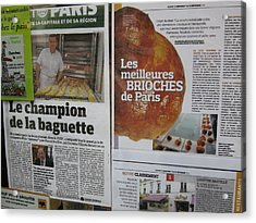 Paris France - Pastries - 121214 Acrylic Print by DC Photographer