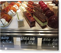 Paris France - Pastries - 1212252 Acrylic Print by DC Photographer