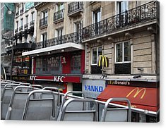 Paris France - Street Scenes - 0113130 Acrylic Print by DC Photographer