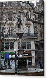 Paris France - Street Scenes - 011334 Acrylic Print by DC Photographer