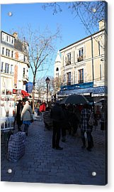 Paris France - Street Scenes - 01139 Acrylic Print by DC Photographer