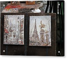 Paris France - Street Scenes - 121225 Acrylic Print by DC Photographer