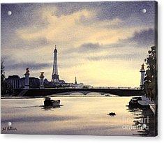 Paris From The Seine Acrylic Print