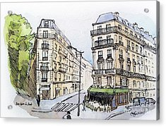 Paris Gare Du Nord Acrylic Print by Marie Minyoung Jeon