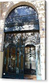 Paris Guerlain Storefront Boutique - Paris Guerlain Blue Door Art Nouveau Art Deco Door Acrylic Print