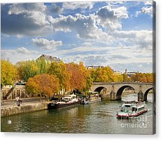 Paris In Autumn Acrylic Print