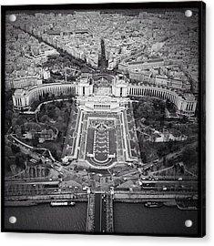 Paris In Black And White. Pt 8. #paris Acrylic Print