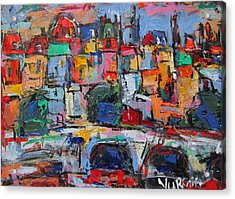 Paris In Colors Acrylic Print