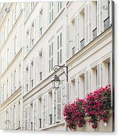 Paris In Pink Acrylic Print by Irene Suchocki