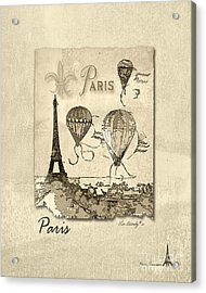 Paris In Sepia Acrylic Print