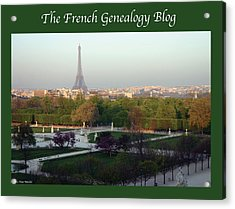 Paris In The Fall With Fgb Border Acrylic Print