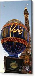 Paris In Vegas Acrylic Print by John Malone