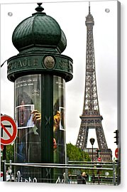 Acrylic Print featuring the photograph Paris by Ira Shander