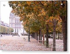 Paris Louvre Jardin Des Tuileries Autumn Fall Trees - Dreamy Tuileries Autumn Trees Nature Gardens Acrylic Print