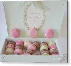 Paris Laduree Pastel Macarons - Paris Laduree Box - Paris Dreamy Pink Macarons - Laduree Macarons Acrylic Print