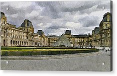 Paris Louvre 5 Acrylic Print by Yury Malkov