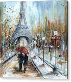 Paris Lovers I Acrylic Print by Marilyn Dunlap