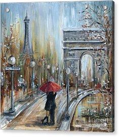 Paris Lovers II Acrylic Print