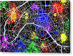 Paris Map Acrylic Print by Stephen Younts