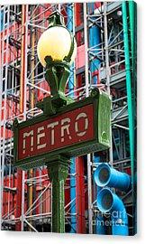 Paris Metro Acrylic Print by Inge Johnsson