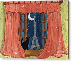 Paris Moonlight Acrylic Print