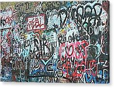 Acrylic Print featuring the photograph Paris Mountain Graffiti by Kathy Barney
