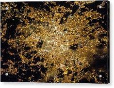 Paris Acrylic Print by Nasa/science Photo Library