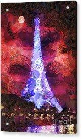 Paris Night Acrylic Print by Mo T
