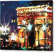 Paris Nights Arc De Triomphe Acrylic Print