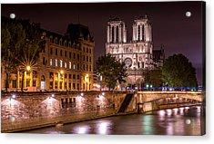 Paris Notre Dame Acrylic Print by Tomas Horvat