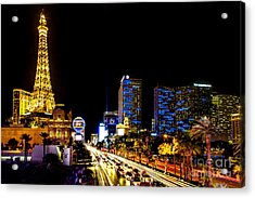 Welcome To Vegas Acrylic Print by Az Jackson