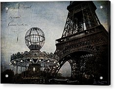 Paris One More Ride Acrylic Print