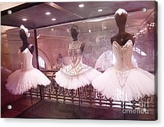 Paris Opera Ballerina Costumes - Paris Opera Garnier Ballet Tutu Costumes At Opera House Acrylic Print