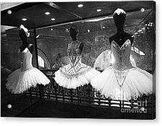 Paris Opera Garnier Ballerina Costume Tutu - Paris Black And White Ballerina Photography Acrylic Print