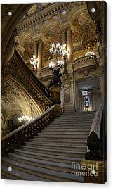 Paris Opera Garnier Grand Staircase - Paris Opera House Architecture Grand Staircase Fine Art Acrylic Print by Kathy Fornal