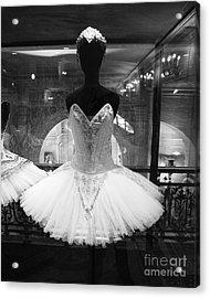 Paris Opera Garnier Ballerina Tutu - Paris Black And White Ballerina Prints - Ballerina Decor Acrylic Print by Kathy Fornal
