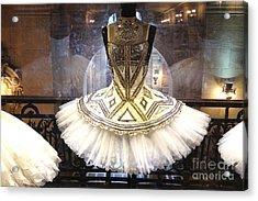 Paris Opera House Ballerina Costume Tutu - Paris Opera Des Garnier Ballerina Tutu Dresses Acrylic Print by Kathy Fornal