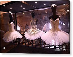 Paris Opera House Ballerina Costumes - Paris Opera Garnier Ballet Art - Ballerina Fashion Tutu Art Acrylic Print by Kathy Fornal