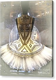 Paris Opera House Ballerina Tutu Costume - Opera Des Garnier Ballerina Costume Acrylic Print by Kathy Fornal