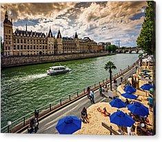 Paris-plages, France Acrylic Print