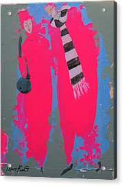 Acrylic Print featuring the painting Paris Promenade by Marina Gnetetsky