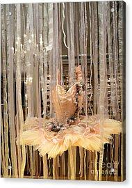 Paris Repetto Ballerina Tutu Dress Shop Window Display - Repetto Ballerina Ballet Tutu Art  Acrylic Print by Kathy Fornal