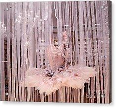 Paris Repetto Pink Ballerina Tutu Dress Shop Window Display - Repetto Ballerina Pink Ballet Tutu Acrylic Print